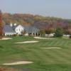 A fall view of a green surrounded by bunkers at Stanton Ridge Golf & Country Club