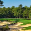 A view of the 18th green at Pine Barrens