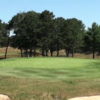 A view of the 8th green at Pines from Colonial Springs Golf Course