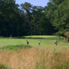 A view of a green at Huntington Country Club