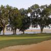 A view of a hole with water in background at Red Bank Plantation