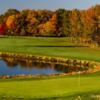 A fall view of a hole at West from Mercer Oaks Golf Course
