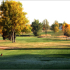 A fall view from a tee at Central Valley Golf Club