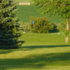A view of green #2 at River Ridge Golf Club