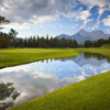 A view of the 4th green at Mount Kidd from Kananaskis Country Golf Course