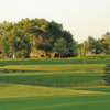 A view of a tee at Pipestone Country Club