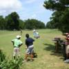 A view of a tee from The Links at Overton Park