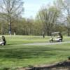 A view of the practice putting green at Hunting Hills Country Club
