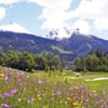 A sunny day view from Gastein Golf Club