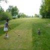 A view from a tee at Air Sofia Golf Club