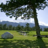 A view of a green at Ian Woosnam Course from Pirin Golf & Country Club