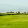 A view of a green protected by bunkers at Noria Golf Club