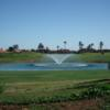 A view over a pond at Amelkis Golf Club