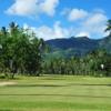 A view of a green at Seychelles Golf Club