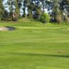 A view of a hole protected by bunkers at Arcade Creek from Haggin Oaks Golf Course