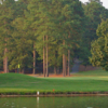 A view over the water of the 18th hole at Creek from Carolina Trace Country Club