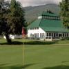 A view of a hole and the restaurant at Revelstoke Golf Club