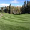 A sunny day view from Waskesiu Golf Course