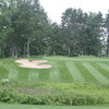 The first hole at the Loon Golf Resort in Gaylord introduces players to the target-style challenges