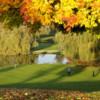 A splendid fall view of a green at Belleme Golf Club