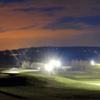 An evening view from Les Etoiles Golf Course at L'Amiraute Golf Club