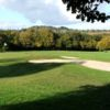 A view of a hole protected by bunkers at Vire la Dathee Golf Club