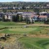 A view of the 7th green at Talons from Country Hills Golf Club