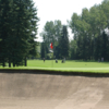 A view of a green and a fairway at Willow Park Golf and Country Club