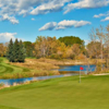A fall view of a hole at Canyon Meadows Golf and Country Club