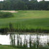 A view from the 14th tee surrounded by water at Kettle Moraine Golf Club