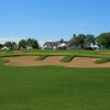 A view of a green protected by tricky bunkers at Le Golf Saint-Raphael