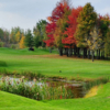 A view of a tee at Club de Golf Triangle D'Or