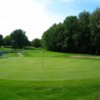 A view of the 2nd green at Club de Golf le Portage