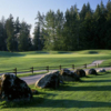 A view of the 1st green at Redwoods Golf Course