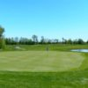 A view of a green with water coming into play at Anderson Links Golf & Country Club