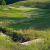 A view of a green protected by bunkers at Ranch Golf and Country Club