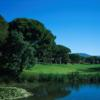 A view of a green with water coming into play at Esterel Golf Club