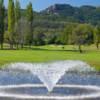A view of a fairway at Riviera Golf Club