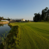 A view of a hole with water coming into play at Penati Golf Resort