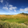 A view of the 9th green at Mussenden from Castlerock Golf Club