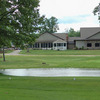 A view from Chenoweth Golf Course with clubhouse in background