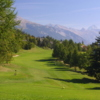 A view from a tee at Crans-sur-Sierre Golf Club