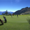 A view of a green at Riederalp Golf Club