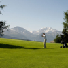 A sunny day view from Riederalp Golf Club