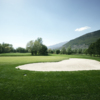 A view of the 1st green at Sierre Golf Club.