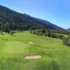A view of the 4th hole protected by bunkers at Source du Rhone Golf Club