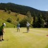 A view of hole #13 at Les Esserts Course from Verbier Golf Club