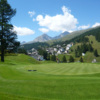 A view of a green at Golf Club St. Moritz