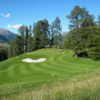 A view from a tee at Golf Club St. Moritz