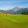 A view of the 7th green at Villars Golf Club